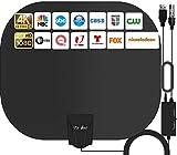 2021 Más Nuevo Antena de TV Interior,240KM Rango Amplificador de Señal Inteligente...