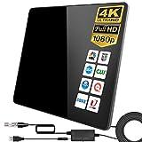 Antena de TV,Antena de TV Digital para Interiores de Alcance de 280KM con Amplificador...