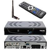 Viark Combo - Receptor Satélite Combo Full HD DVB-S2 Multistream + T2/C H.265/HEVC, con...