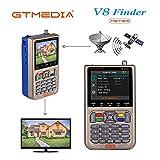 GT MEDIA V8 Sat Finder Meter Localizador de señal de satélites Digital Buscador de...