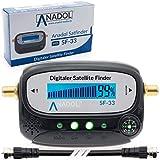 Anadol SF33 - Localizador de satélite LCD con brújula, sonido, cable de conexión,...