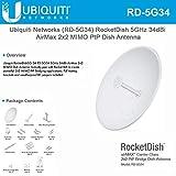 Ubiquiti Networks RD-5G34 - Antena de red AirMAX de 34 dBi, antena direccional (AirMAX...